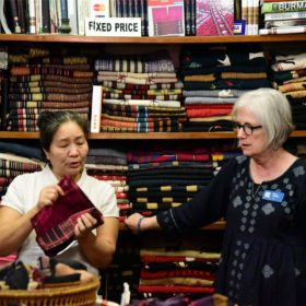 Semester at Sea textiles class weaves together a view of Myanmar