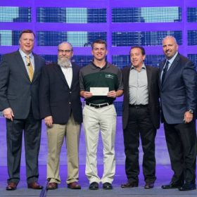 CM major Ryan Schneider awarded William A. Bianco, Jr Memorial Scholarship