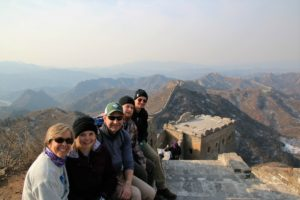 Seng family at the Great Wall of China
