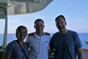 Stephanie and Chris Seng, First Officer Rado