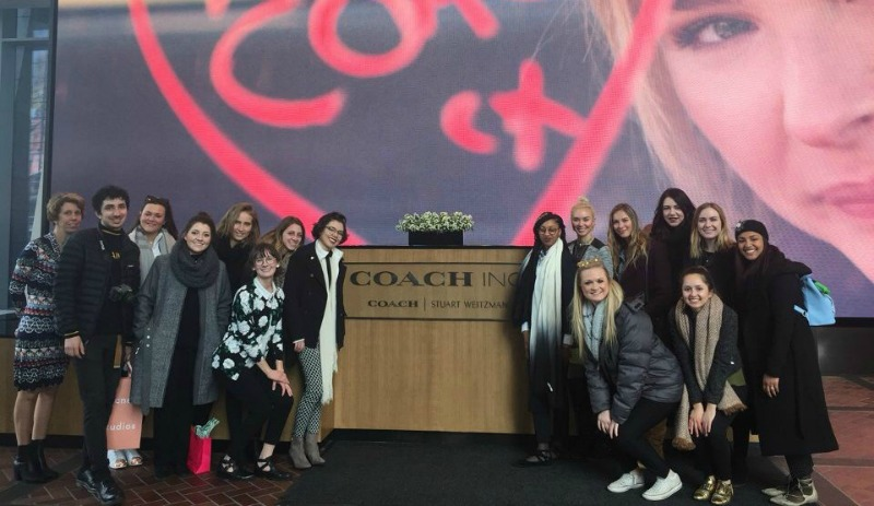 Design and Merchandising students visited Coach in NYC