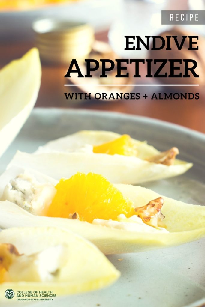 Try this tasty citrus appetizer: endive with oranges and almonds.