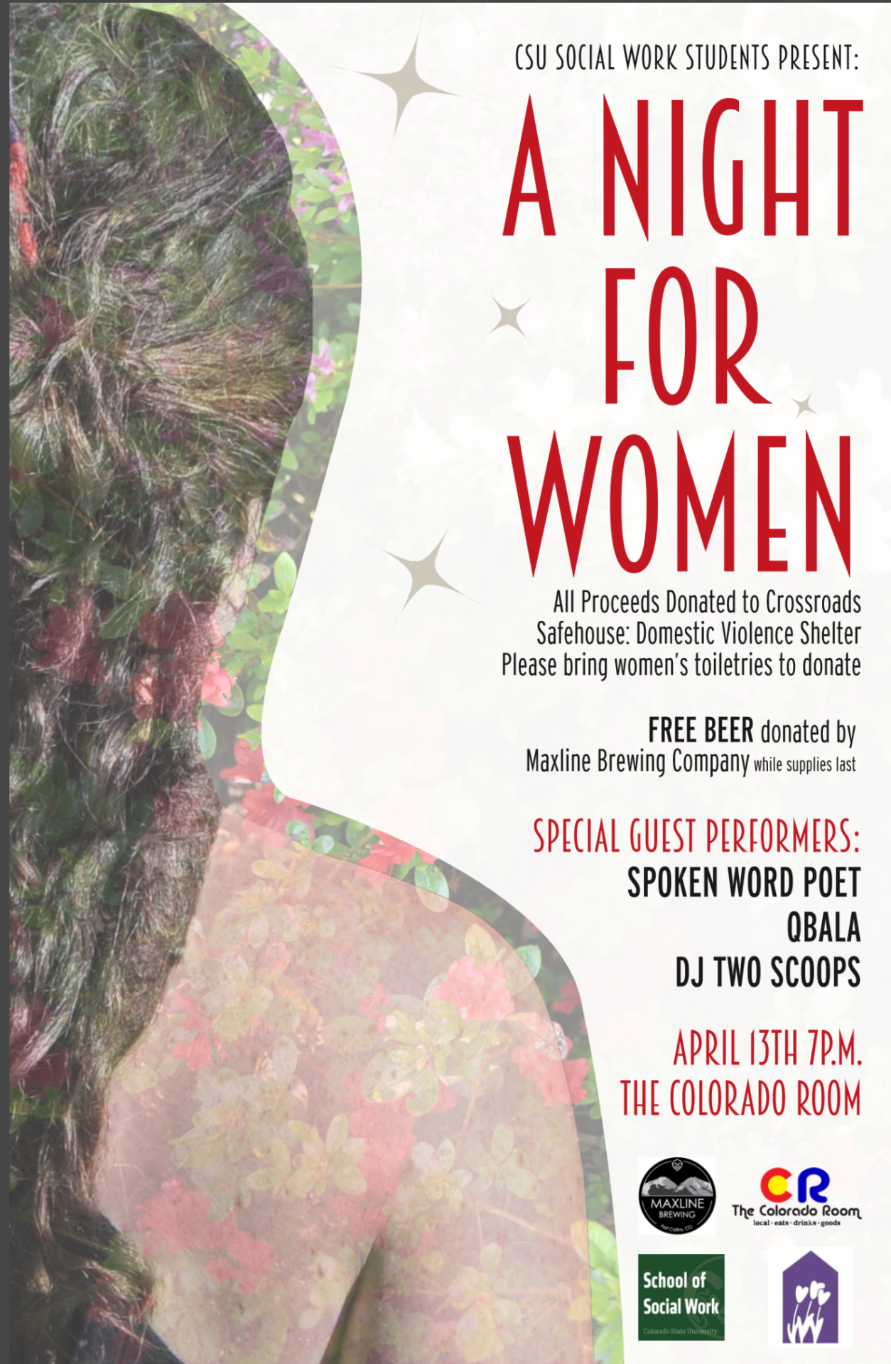 social work students host a night for women.