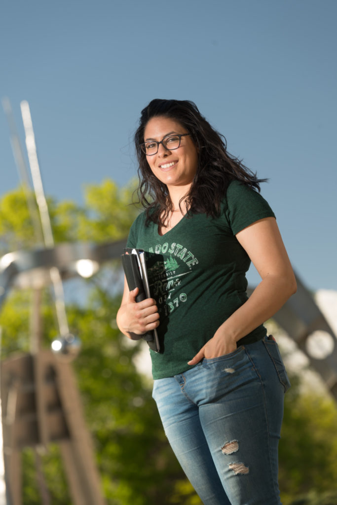 Luna Martinez, majoring in environmental health, earned an Excellence in Energy award at CURC. (Photo: John Eisele/Colorado State University)