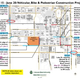 Construction minimized for commencement weekend