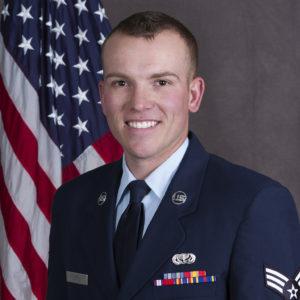 Aaron Leyte in Air Force uniform
