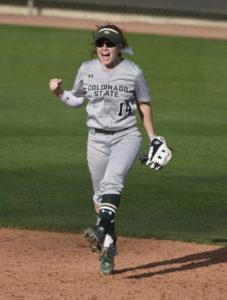 Taryn Arcarese on softball field