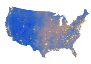 US map noise pollution study Buxton May 2017