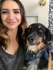 Christina Parise and dog
