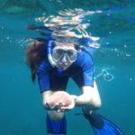 Christina Parise snorkling
