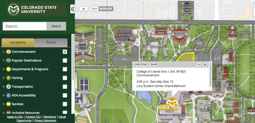 csu map of campuses Commencement Week Interactive Campus Map To Ceremonies Parking csu map of campuses