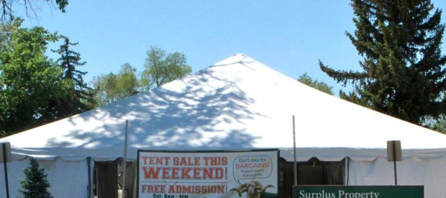 The Surplus Property Store's 6th annual tent sale coming soon