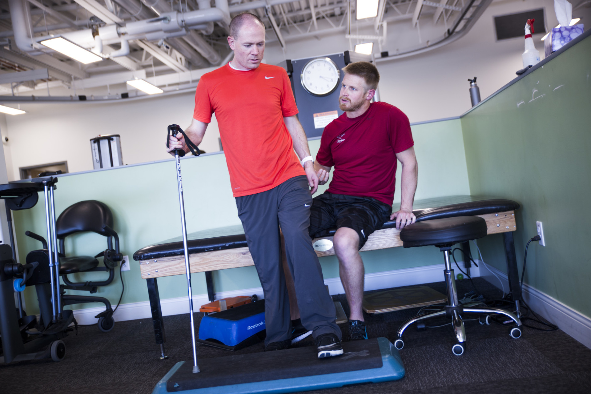 Kevin Hoyt does physical therapy