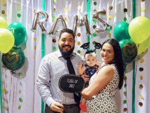 Graduates with baby