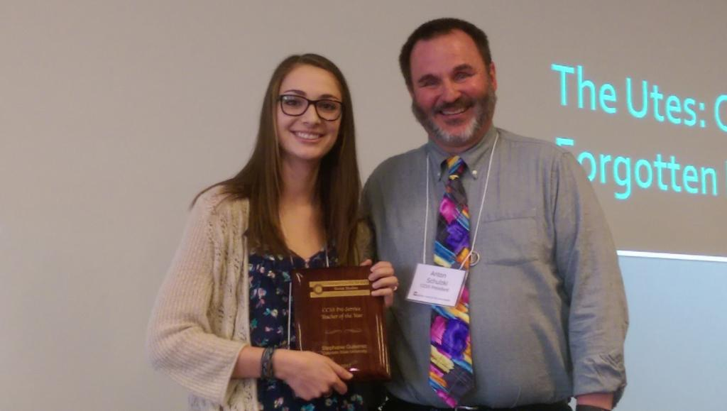 may grad lands statewide honor for social studies teaching