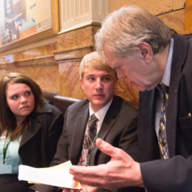 Straayer honored for long stewardship of internships at Capitol