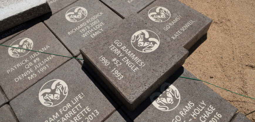 Donor Bricks Installed at Colorado State University On-Campus Stadium