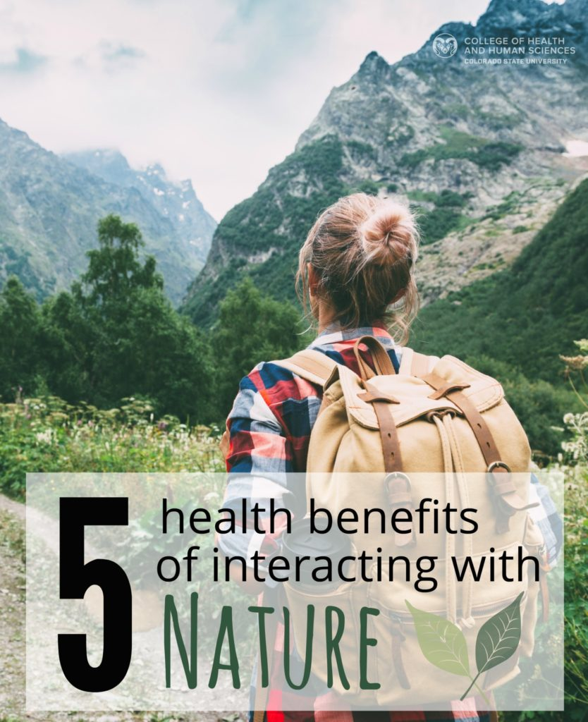 Here are the top five health benefits of interacting with nature