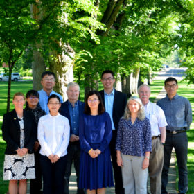 Chinese scholars and policymakers visit campus and statewide Extension locations