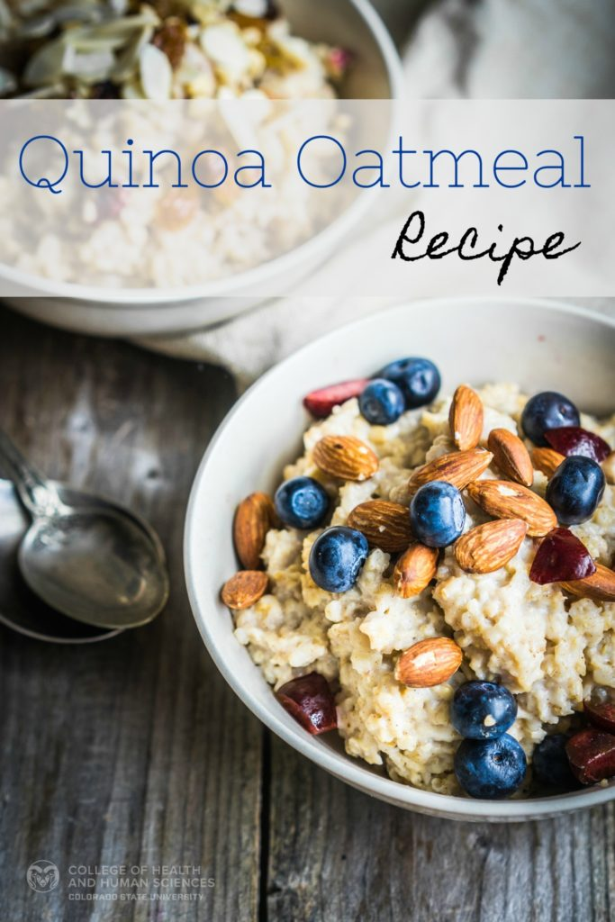 This dish combines quinoa and oats for a flavorful, high protein, high fiber meal or snack. Quinoa Oatmeal.
