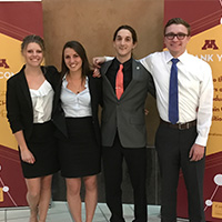 A group photo of the Colorado State Minneapolis Case Competition group
