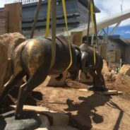 Iconic sculpture finds its home at CSU stadium