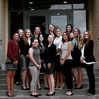 A group photo of the Colorado State Society of Human Resource Management group