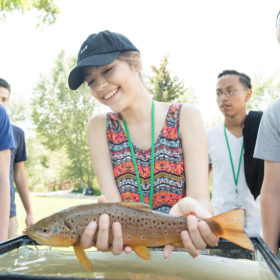High school students dip their toes into river science