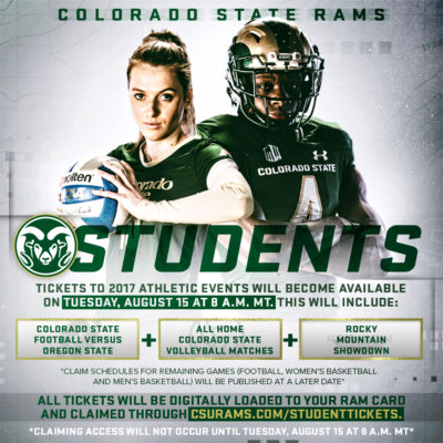 Student tickets graphic