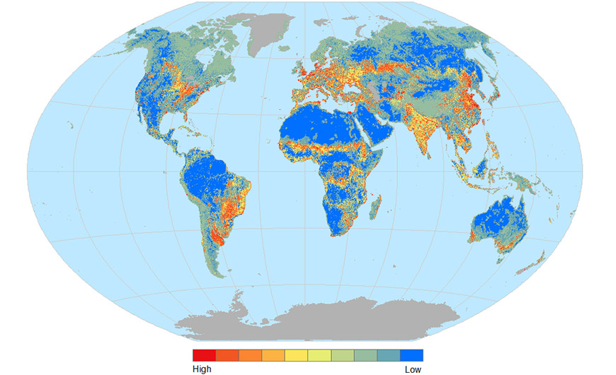 habitat fragmentation map