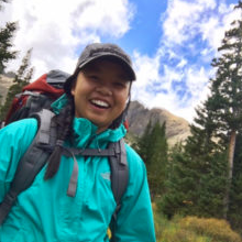 Zori Oberle, biomedical engineering, on a hike
