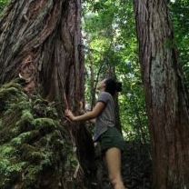 Grace Ota, Ecosystem Science and Sustainability, on a hike