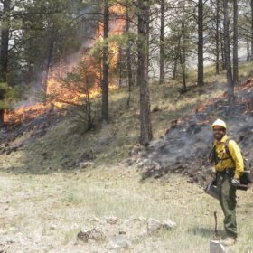 Fighting fire with fire: doctoral students help with prescribed burns
