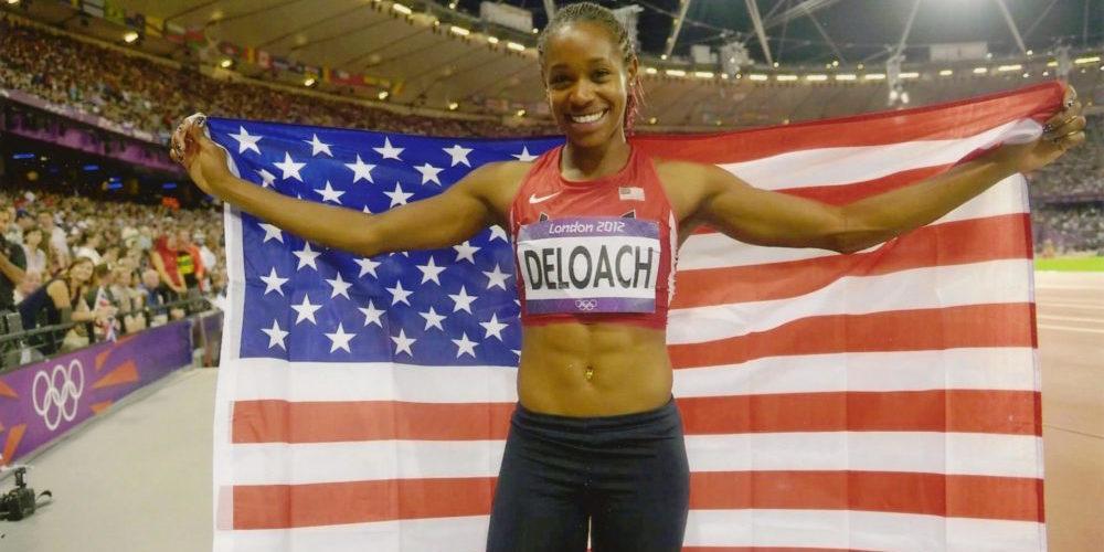 Janay DeLoach Olympics flag