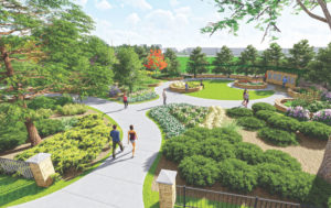 A rendering of CSUs new Heritage Garden
