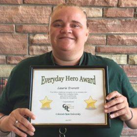 Custodian Laurie Everett named an Everyday Hero