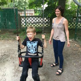 Social work student supports children with disabilities in Ukraine