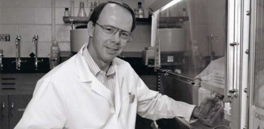 Richard St. Clair in the CSU tissue culture lab, circa 1966.