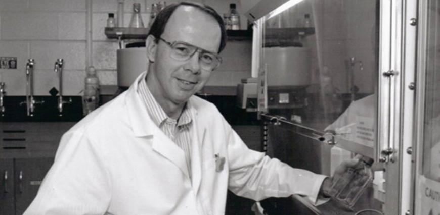 Richard St. Clair in the CSU tissue culture lab, circa 1966.