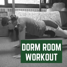 How to work out in your dorm room