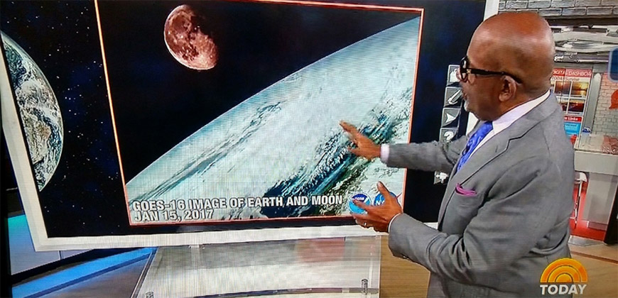 Al Roker and GOES-16 image