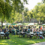 color photo of picnic on the Oval after 2017 Fall Address by President Frank