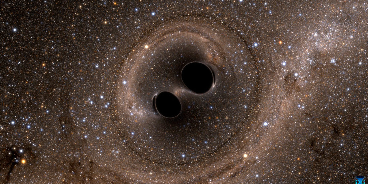 black holes colliding