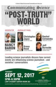 color photo of Communicating Science journalism panel