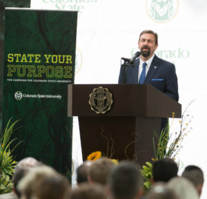 Colorado State University President Tony Frank delivers his eighth annual Fall Address, August 31, 2016.