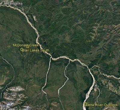 Alaskan dig map