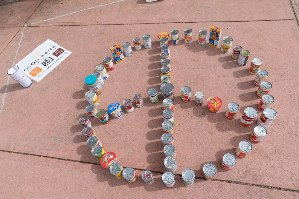 Cans on the plaza
