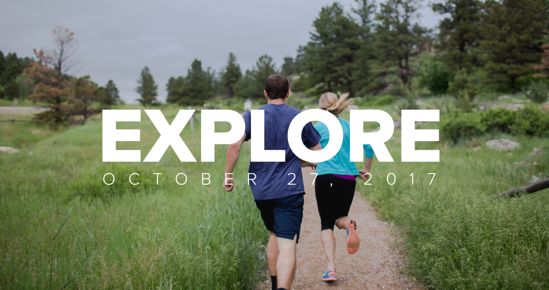 CSU students running on a path for Explore CSU 2017