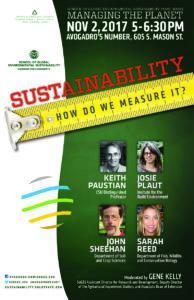 Managing the planet Sustainability metrics