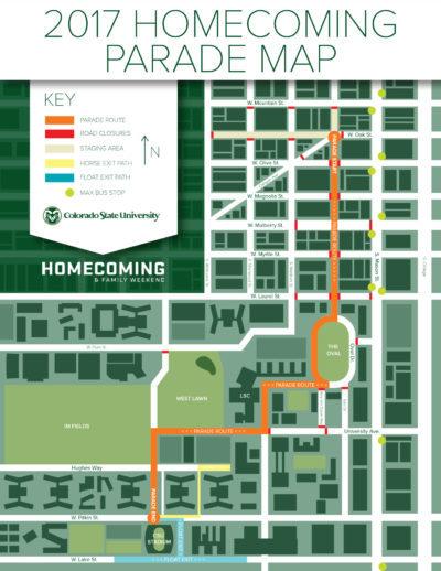 Homecoming Parade map 2017